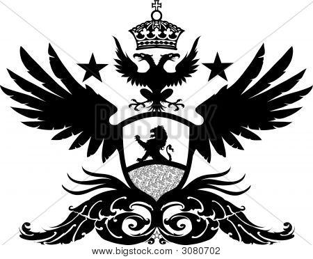 Winged Lion Crest.Eps