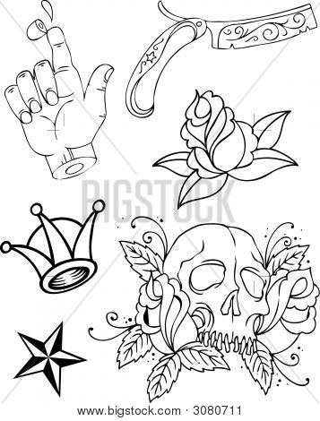Tattoo Group Outline.Eps