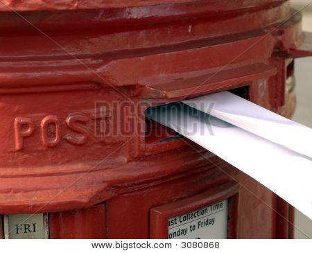 Folded Letter Posted