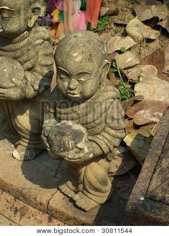 Little Monk Statue