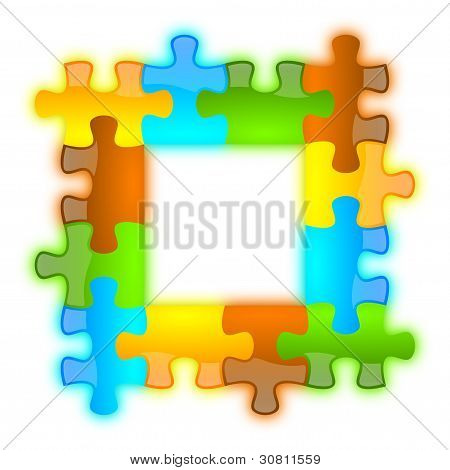 Color, Glossy, Brilliant And Jazzy Puzzle Frame 4 X 4
