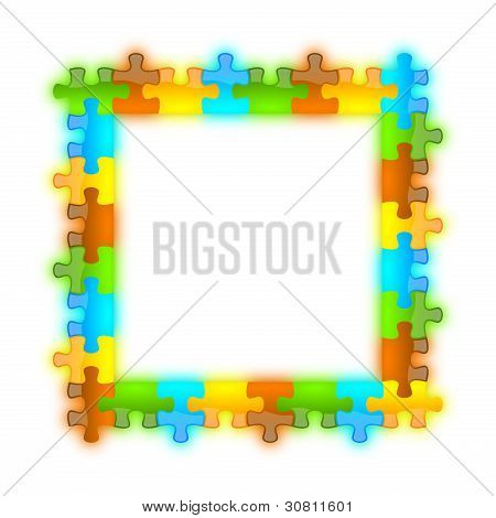 Color, Glossy, Brilliant And Jazzy Puzzle Frame 8 X 8