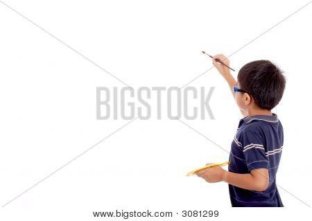 Little Boy In Rear View