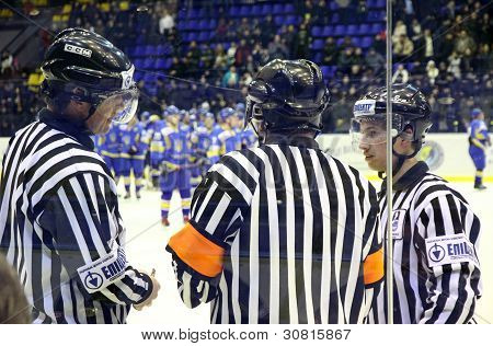 Ice-hockey Referees In Action