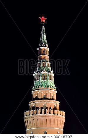 Kremlin Tower and Red Star, Moscow