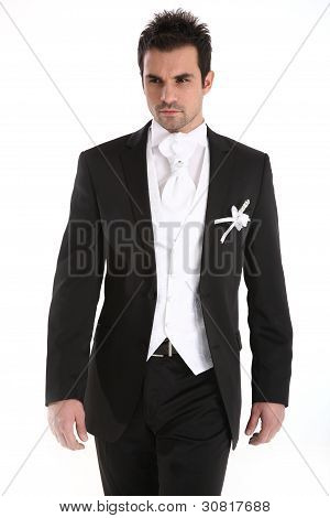 Handsome Young Man In Tuxedo