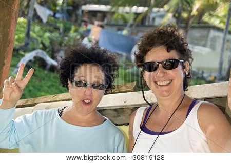 Mittelalter weibliche Touristen Mais Insel nicaragua