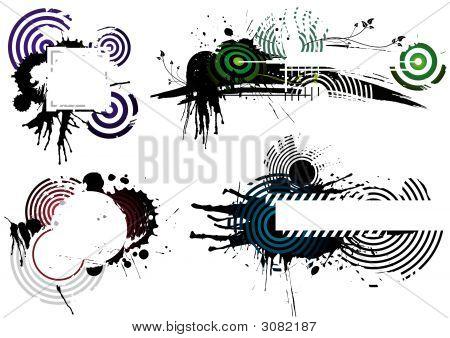 Four Grunge Designs