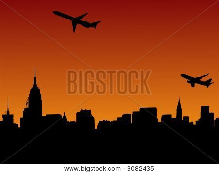 Planes Departing Manhattan