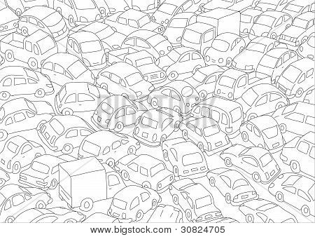 Engarrafamento de carro