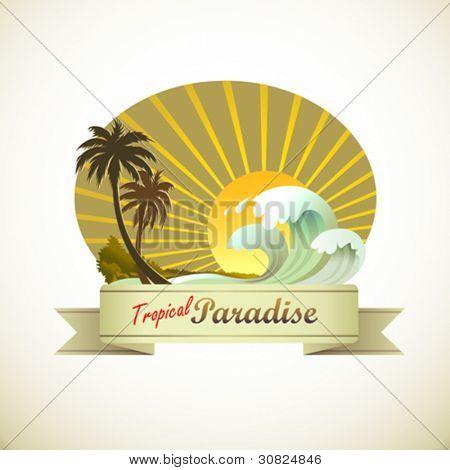 Tropical Island Vacation on Sun ,Sand and Beach