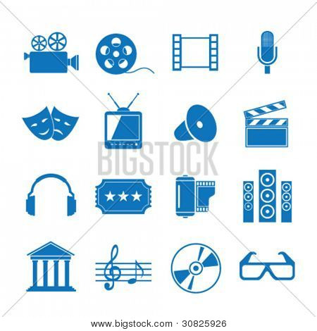 Vector illustration icons on Film