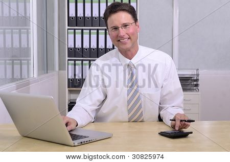 portait of financial advisor at office