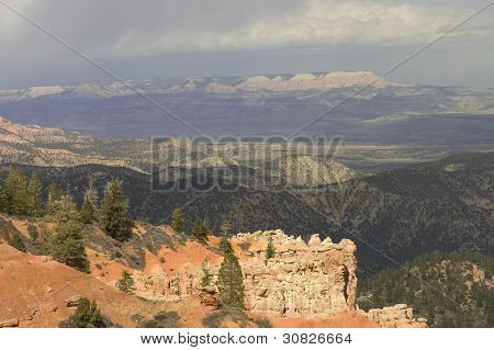 Scenic View Of Ponderosa Canyon
