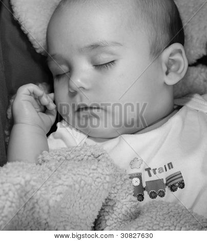 Adorable baby boy asleep