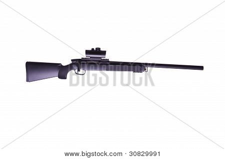 Rifle with a scope