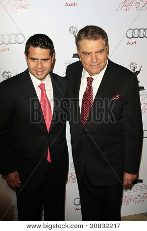 BEVERLY HILLS, CA - MAR 1: Cesar Conde, Mario Kreutzberger at the Academy of Television Arts & Sciences 21st Annual Hall of Fame Ceremony on March 1, 2012 in Beverly Hills, California