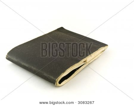 Old Chequebook On White Background