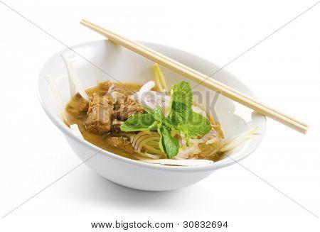 Famous Malaysian Spicy Soup Noodles, Penag Asam laksa