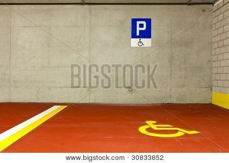 new underground parking, disabled