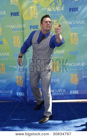 LOS ANGELES - AUG 7: The Miz (WWE Wrestler) arrives at the 2011 Teen Choice Awards held at Gibson Amphitheatre on August 7, 2011 in Los Angeles, California