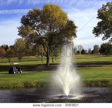 Carrinho de golfe e perigo de fonte