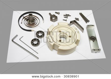 Components Of Disassembled Potentiometer