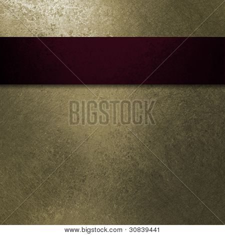 Beige Background Red Ribbon