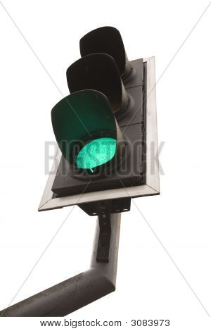 British Traffic Light On Green