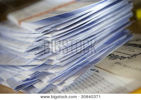 Stack of paper votes
