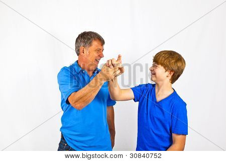Happy Father With His Cute Son