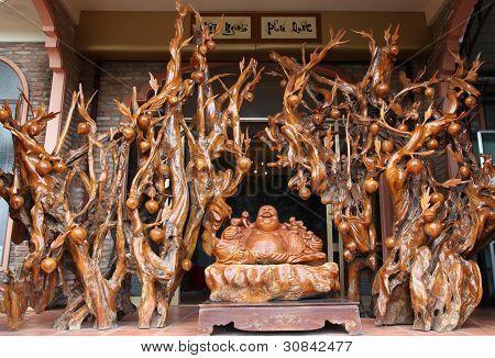 wooden sculpture of the welfare