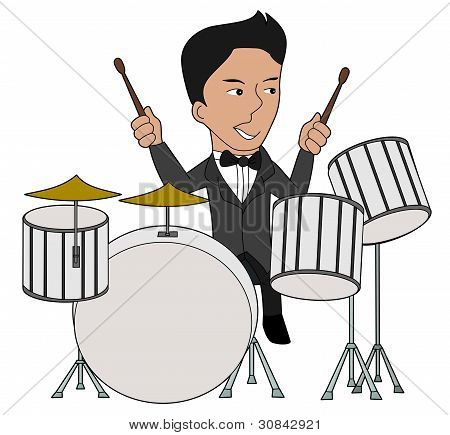 Drummer Cartoon