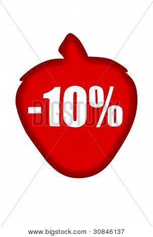 Minus 10 percent