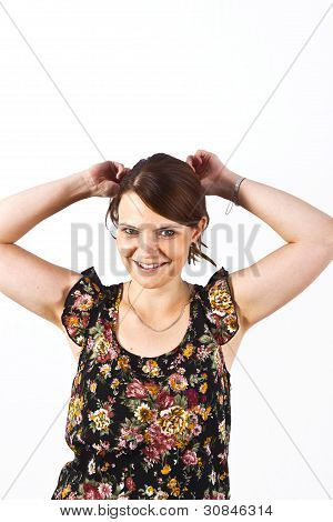 Smart  Attractive Woman Smiling
