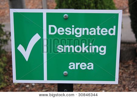 designated smoking area for smokers