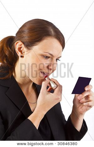 Business Woman With Lipstick