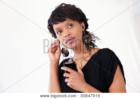 Businesswoman On Smart Phone