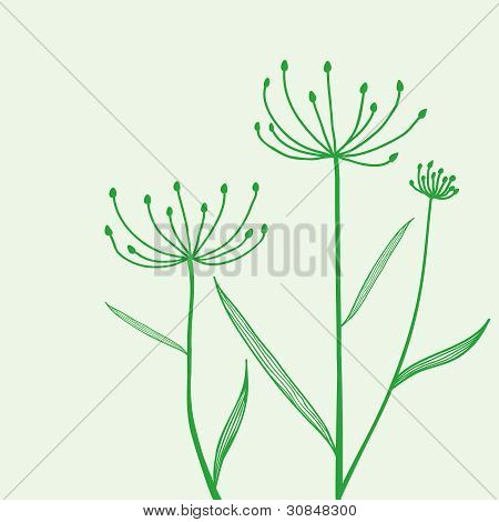 Plant On Green Background