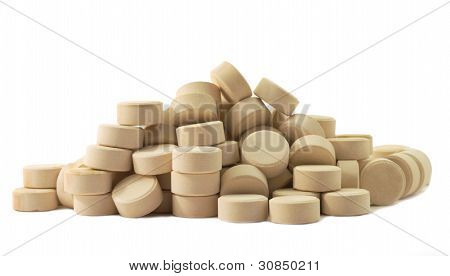 Tablets Pills Medicine  In Heap