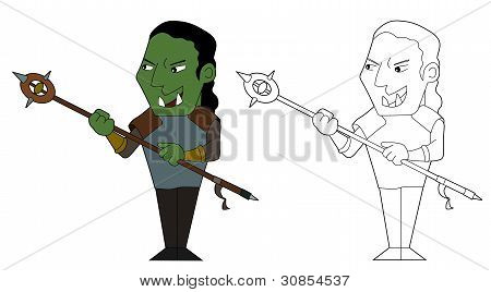 Orcish Shaman Cartoon