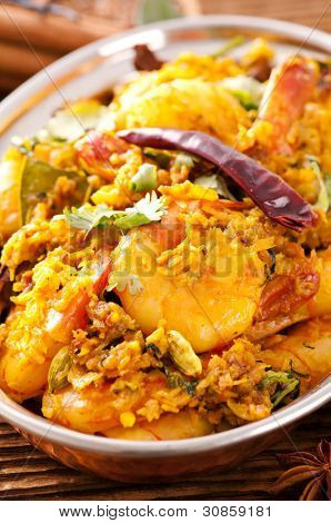 Masala fry with prawns