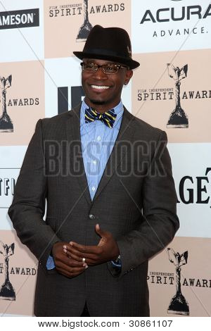 SANTA MONICA, CA - 26 FEB: Taye Diggs bei der 2011 vergibt Film Independent Spirit bei Santa Monica Bea