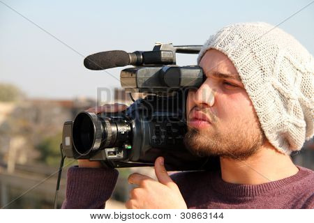 Cameraman Shooting Videos