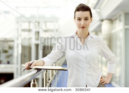 Businesswoman With Calendar
