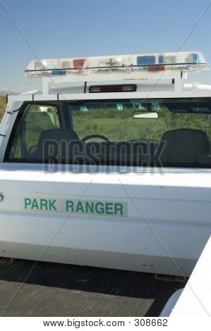 Picture or Photo of Park ranger vehicle in a state park.