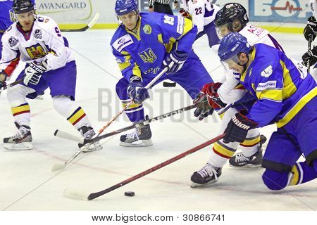 Ice-hockey Game Between Ukraine And Romania
