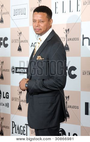 SANTA MONICA, CA - FEB 26: Terrence Howard at the 2011 Film Independent Spirit Awards at Santa Monica Beach on February 26, 2011 in Santa Monica, California