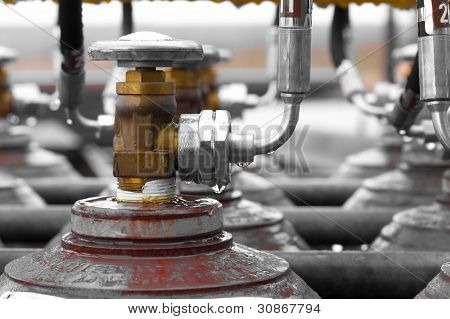 Picture Off a Valve With Shallow DOF