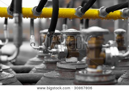 Manifold com válvulas